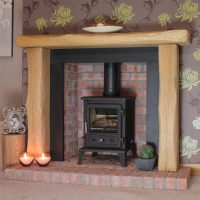Oak Fire Surrounds | Arched Rustic Oak Fire Surround