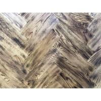 Tumbled Rustic Burnt Oak Parquet Flooring Blocks Natro ...