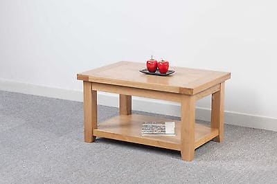 chelmsford solid wood chunky oak small coffee table