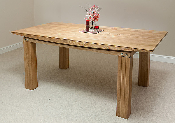 Tokyo Solid Oak 6ft X 3ft Dining Table Livefly