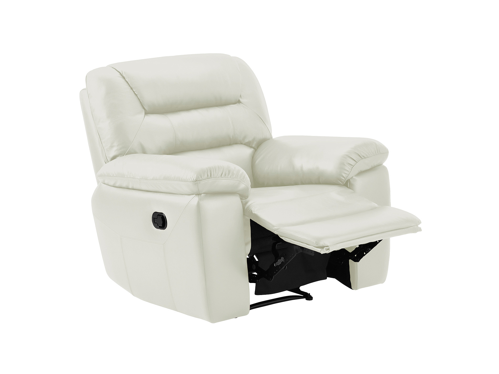 grey leather recliner chair uk lazy boy reclining chairs devon armchair with manual light