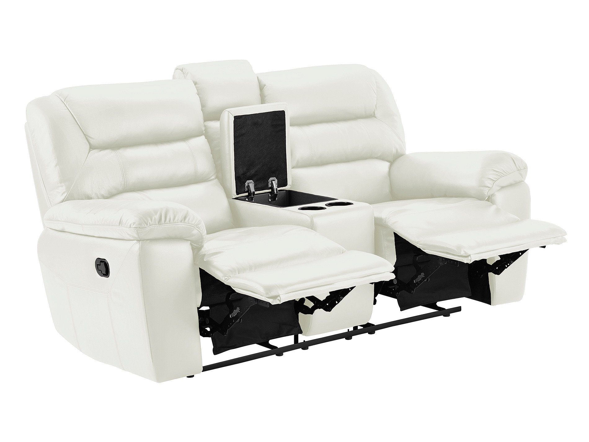 electric recliner leather sofas uk sofa fabric change devon small with recliners off white