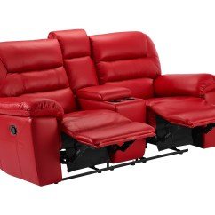 Electric Recliner Leather Sofas Uk Sleeper Sofa With Matching Reclining Loveseat Devon Small Recliners Red Faux