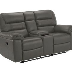 Grey Leather Recliner Chair Uk Straight Back For Elderly Devon Small Sofa With Manual Recliners Faux