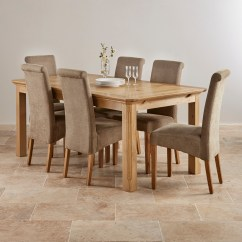 Solid Oak Dining Table And Chairs Wheelchair Getaways Edinburgh Natural Set 6ft Extending