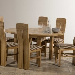 Round Oak Table And 6 Chairs Teak Outdoor Furniture Lounge Knightsbridge 5ft 3 Quot Natural Solid Extending