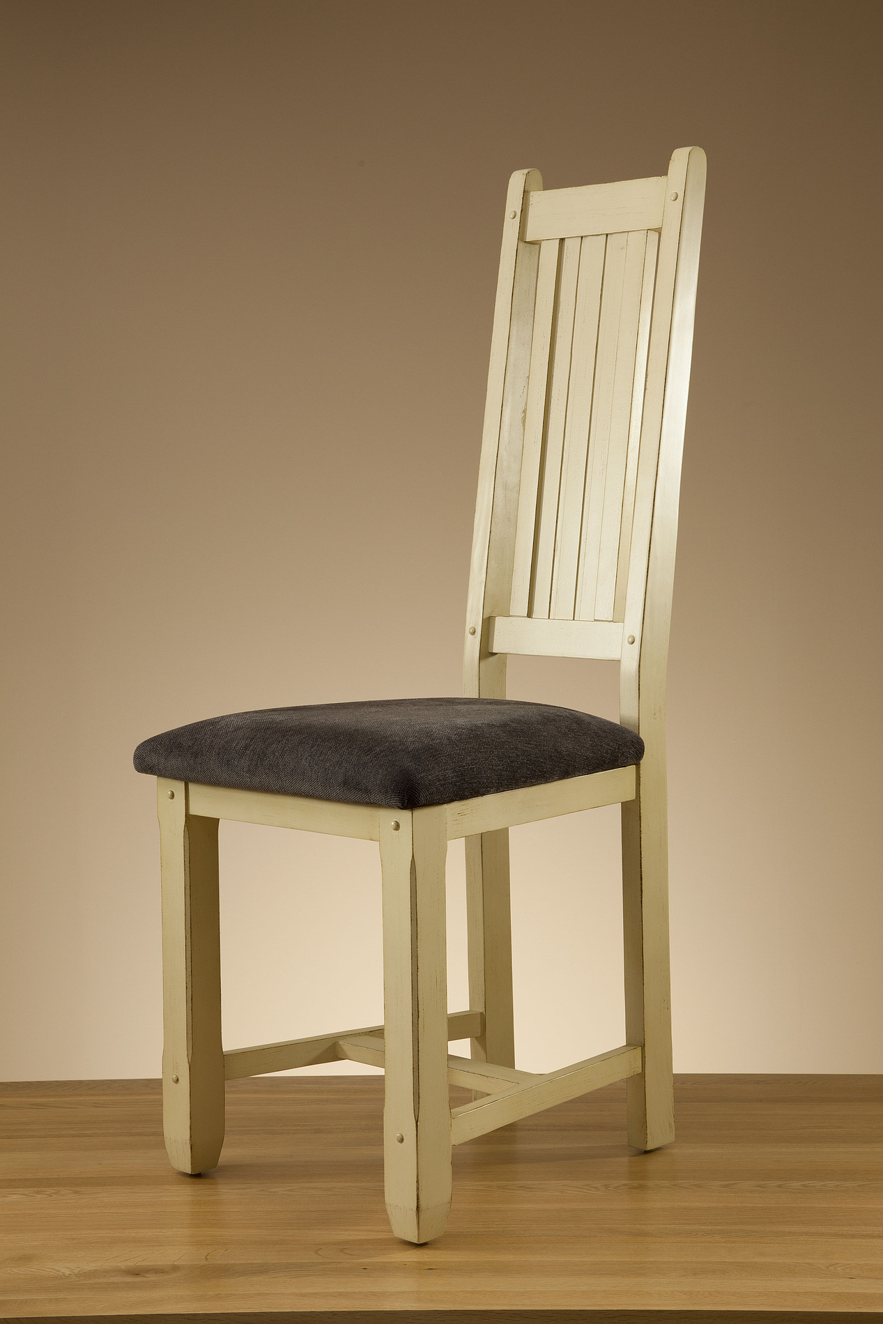 rustic dining chairs uk black and white chair phoenix shabby chic oak plain fabric