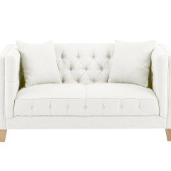 Sterling Sofa White Linen Slipcover Small In Maxwell Cream