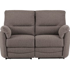 Small Sofa Recliner Sears Twin Sleeper Sutton With Manual Recliners In Barley Taupe