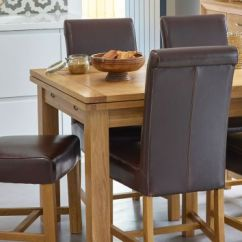 Leather Dining Room Chairs Walmart Fold Up Real Oak Furnitureland