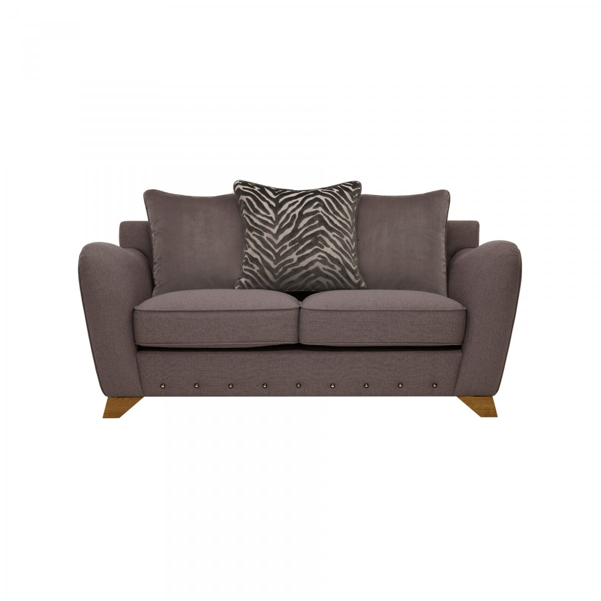 Abbey 2 Seater Pillow Back Sofa in Fabric  Oak Furniture Land