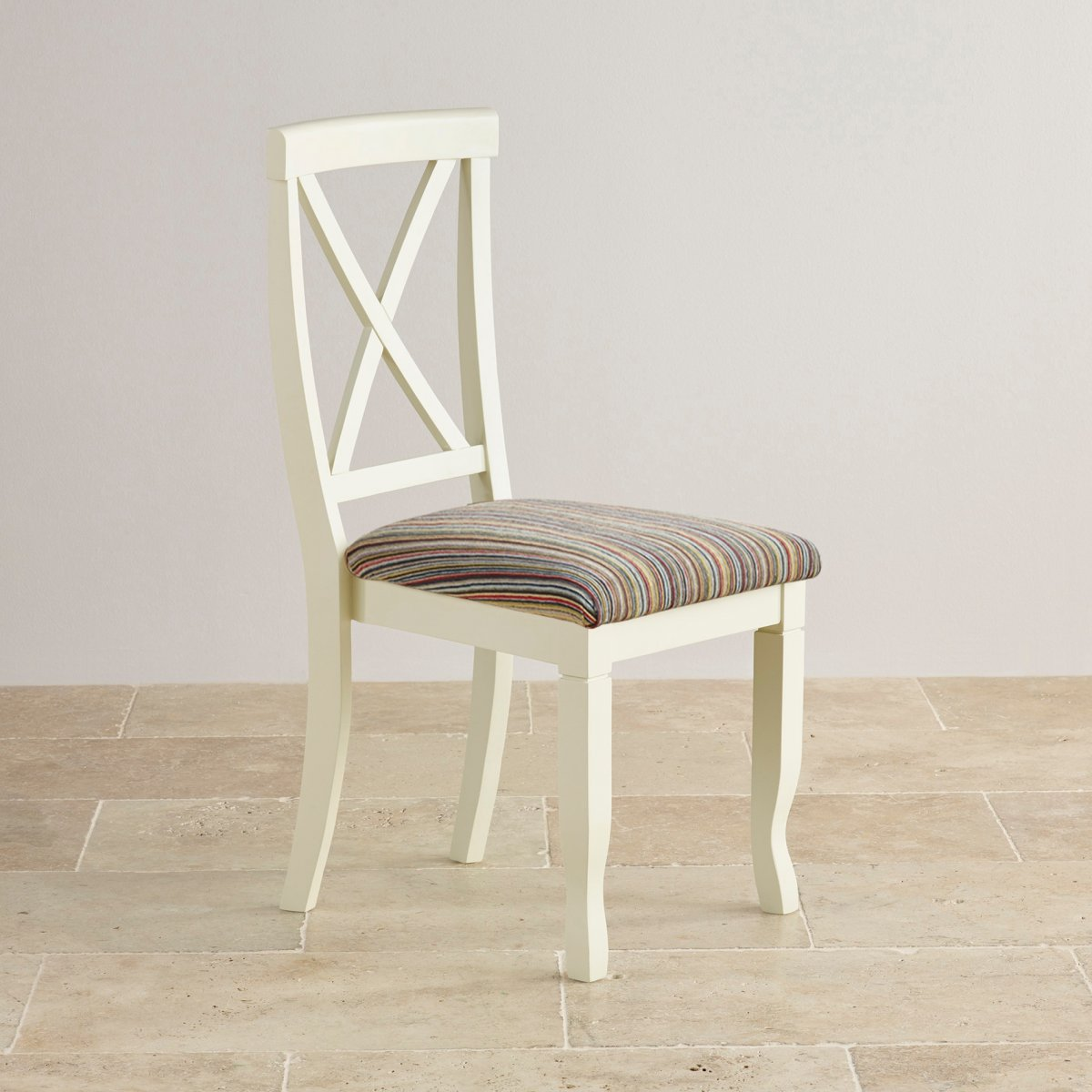 striped dining chair patio covers near me bella in painted oak multi coloured
