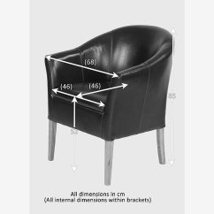 Tub Chair Brown Leather Ski Lift For Sale With Solid Oak Legs