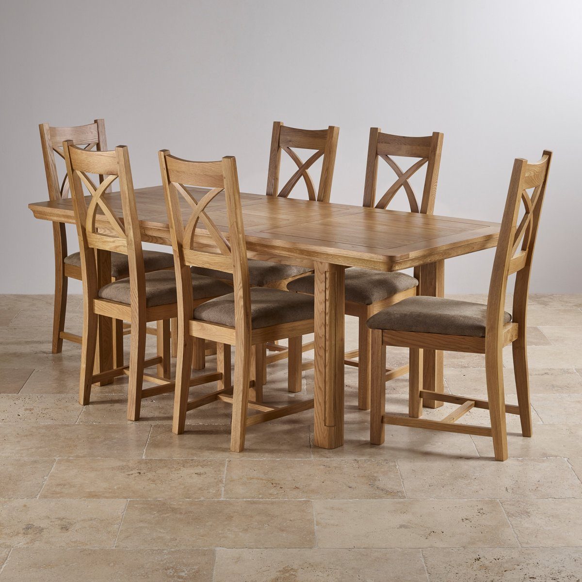 6 chair dining set high that attaches to counter canterbury extending table 43 sage fabric chairs