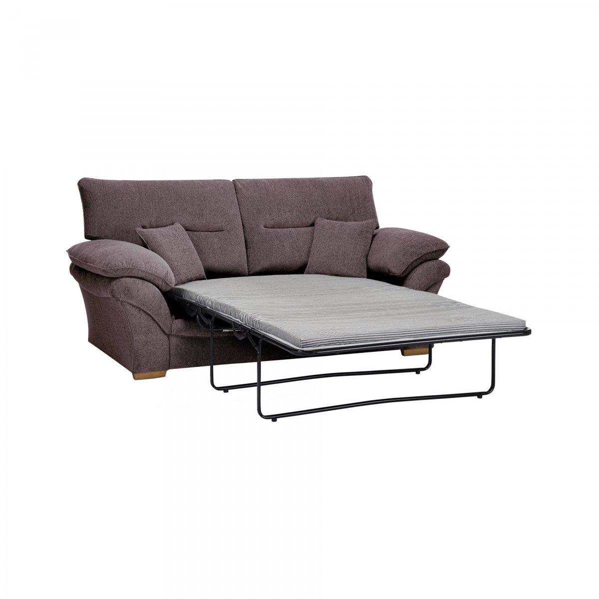 standard sofa cushion size nice sofascore chloe 2 seater bed in logan grey fabric