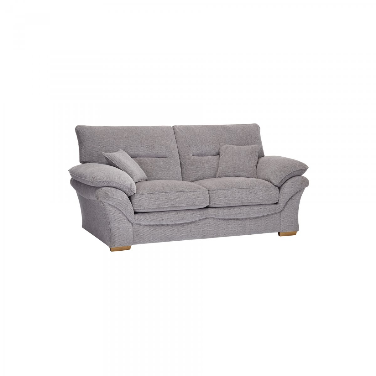 2 seater sofa bed size buoyant fairfield chloe in logan fabric grey