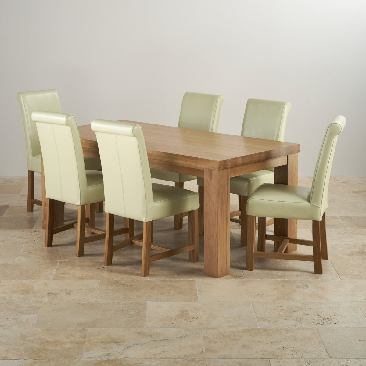 solid oak dining table and chairs round with 4 tables contemporary chunky 6ft