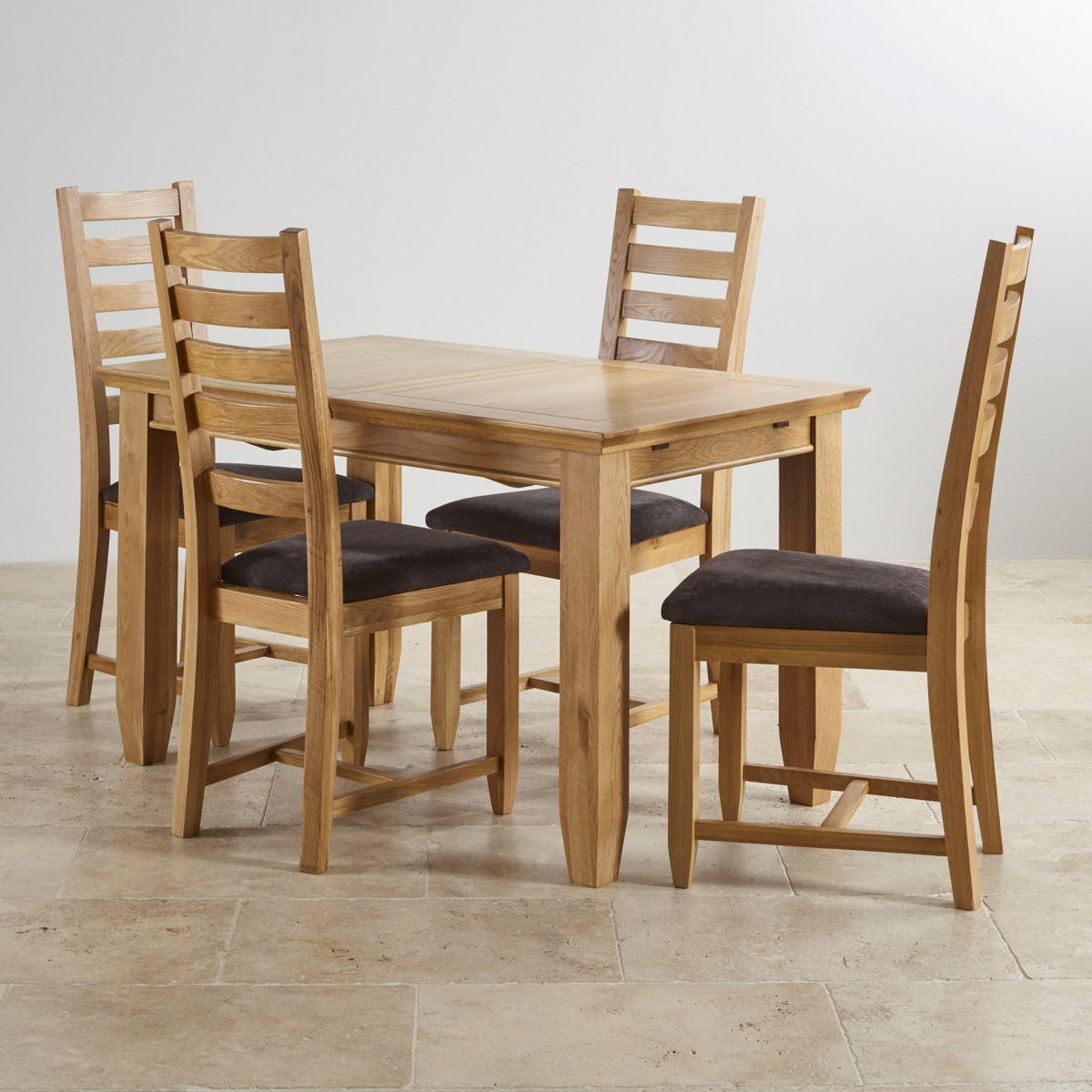 2 x 4 dining chairs cheap camping classic extending set in oak table 43 6
