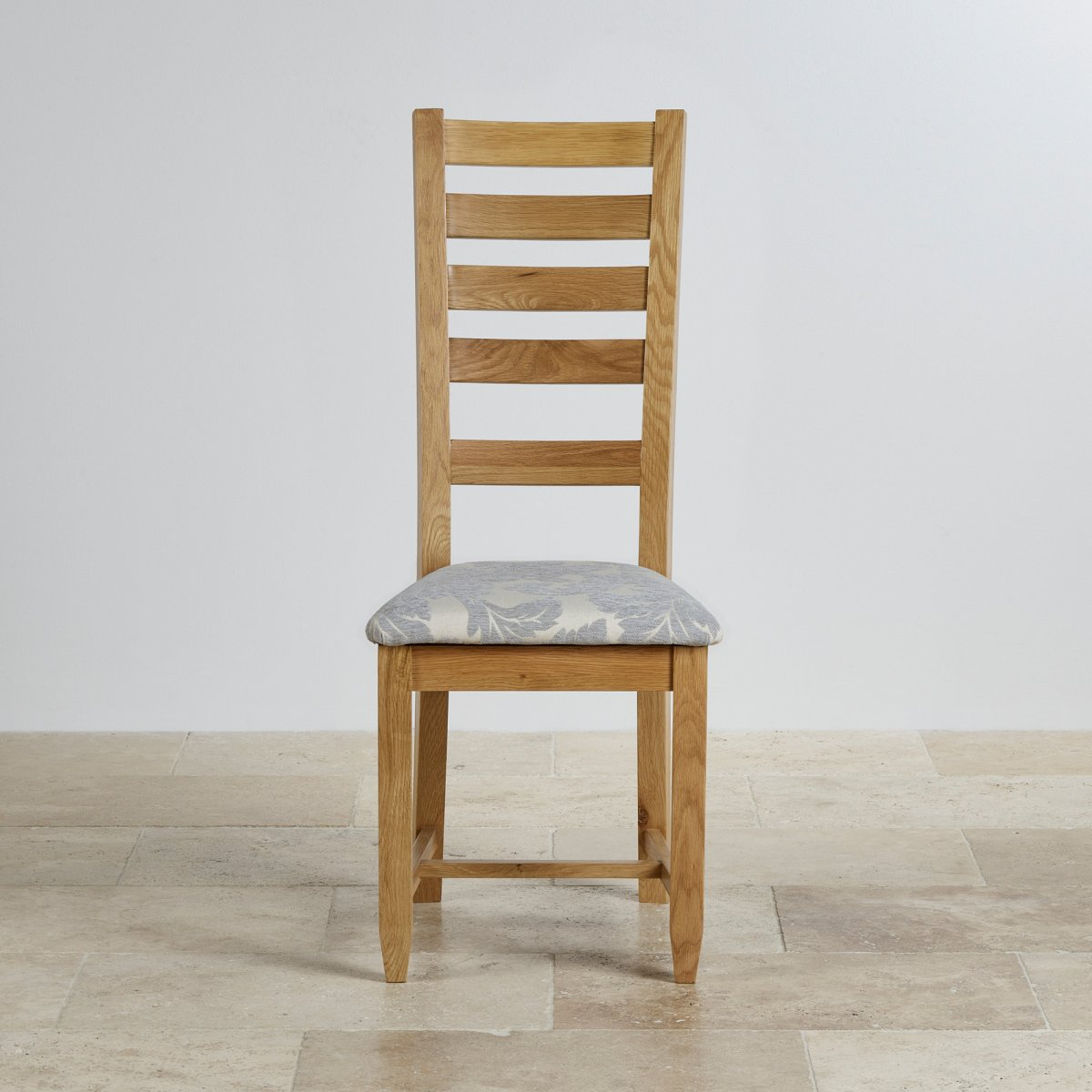 grey fabric oak dining chairs cheap rental chair covers classic in natural patterned seat