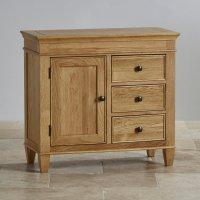 Classic Storage Cabinet in Natural Solid Oak | Oak ...