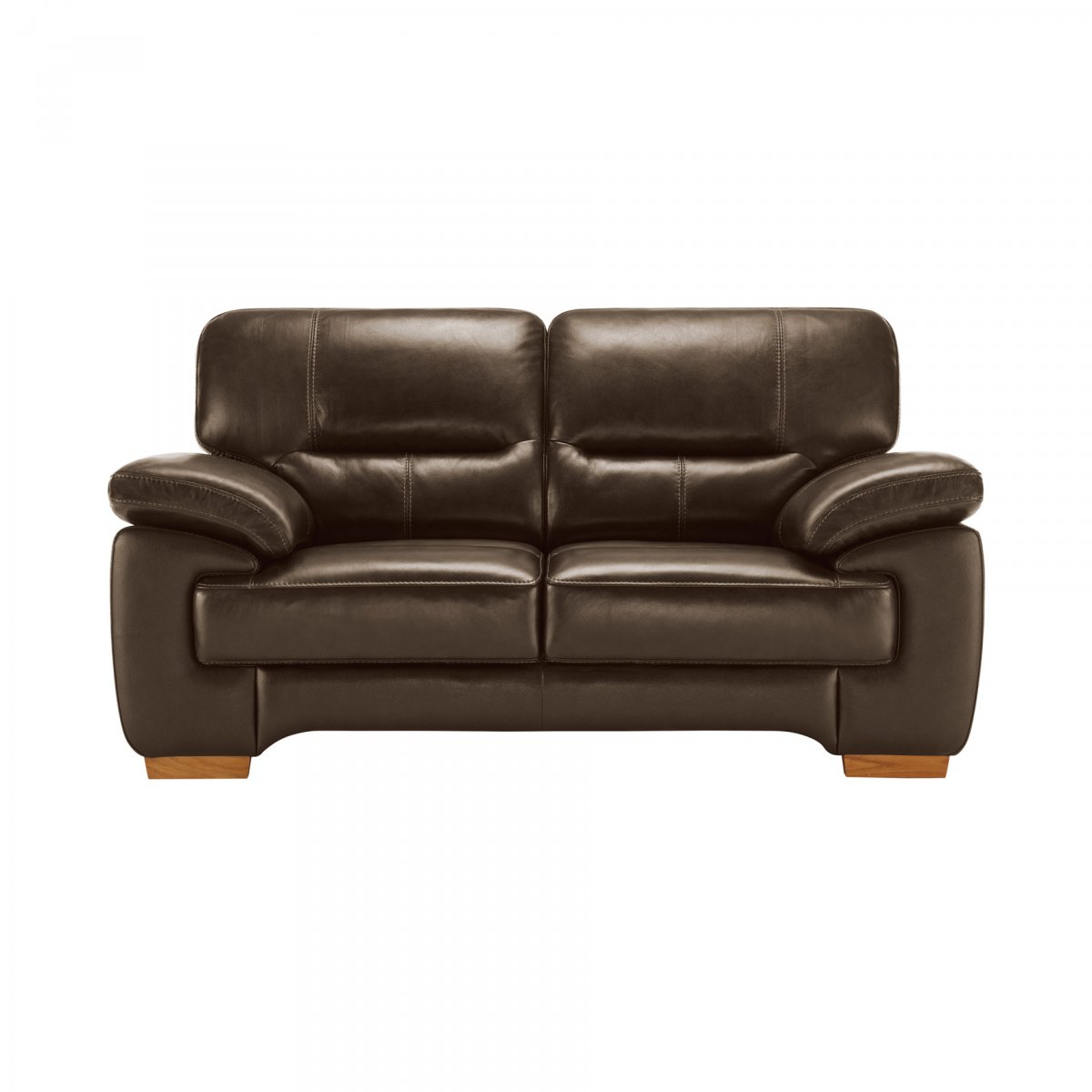 light brown leather reclining sofa bruhl ersatzbezug clayton 2 seater in oak
