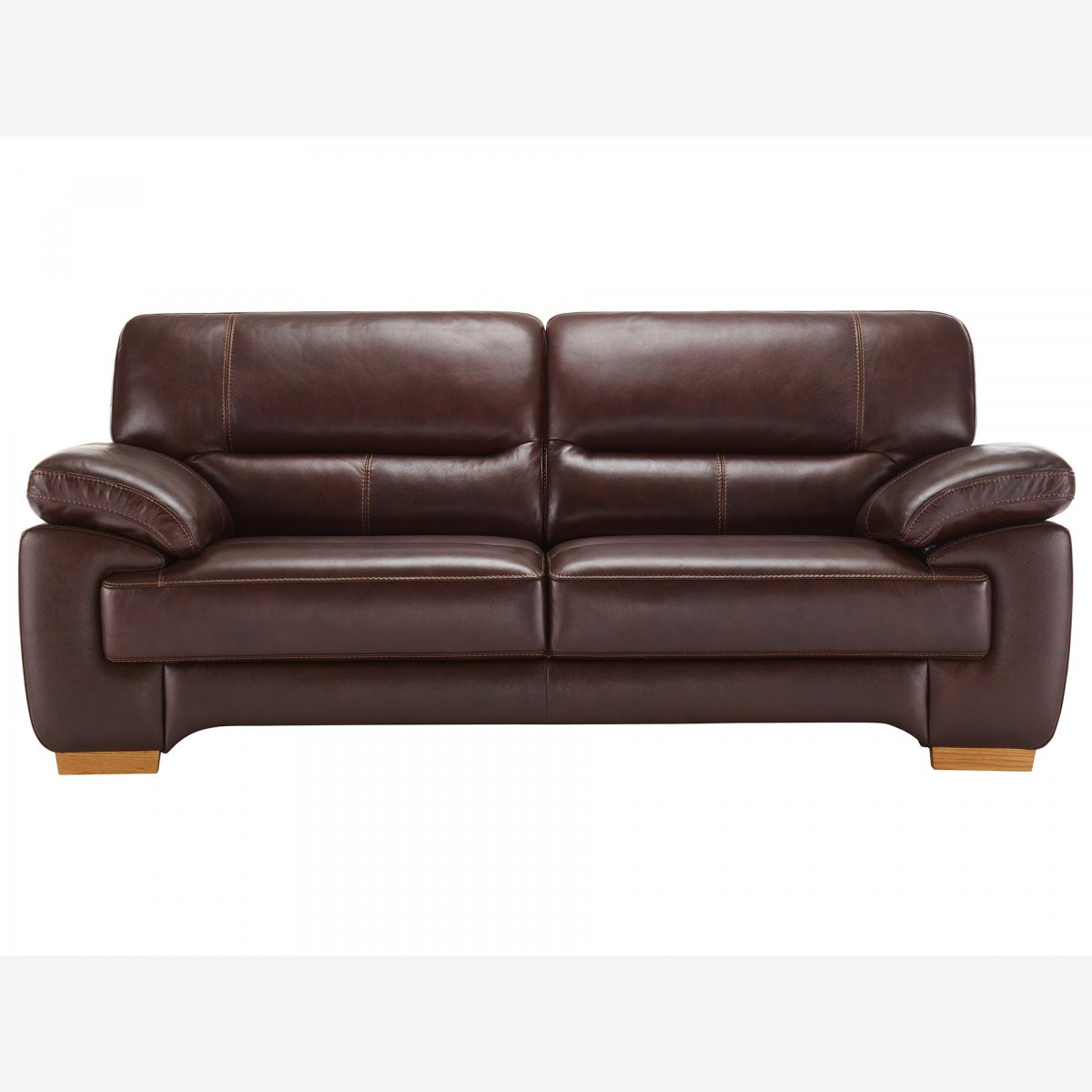 distressed leather armchair uk steelcase office chair canada clayton 3 seater sofa in brown oak furniture land