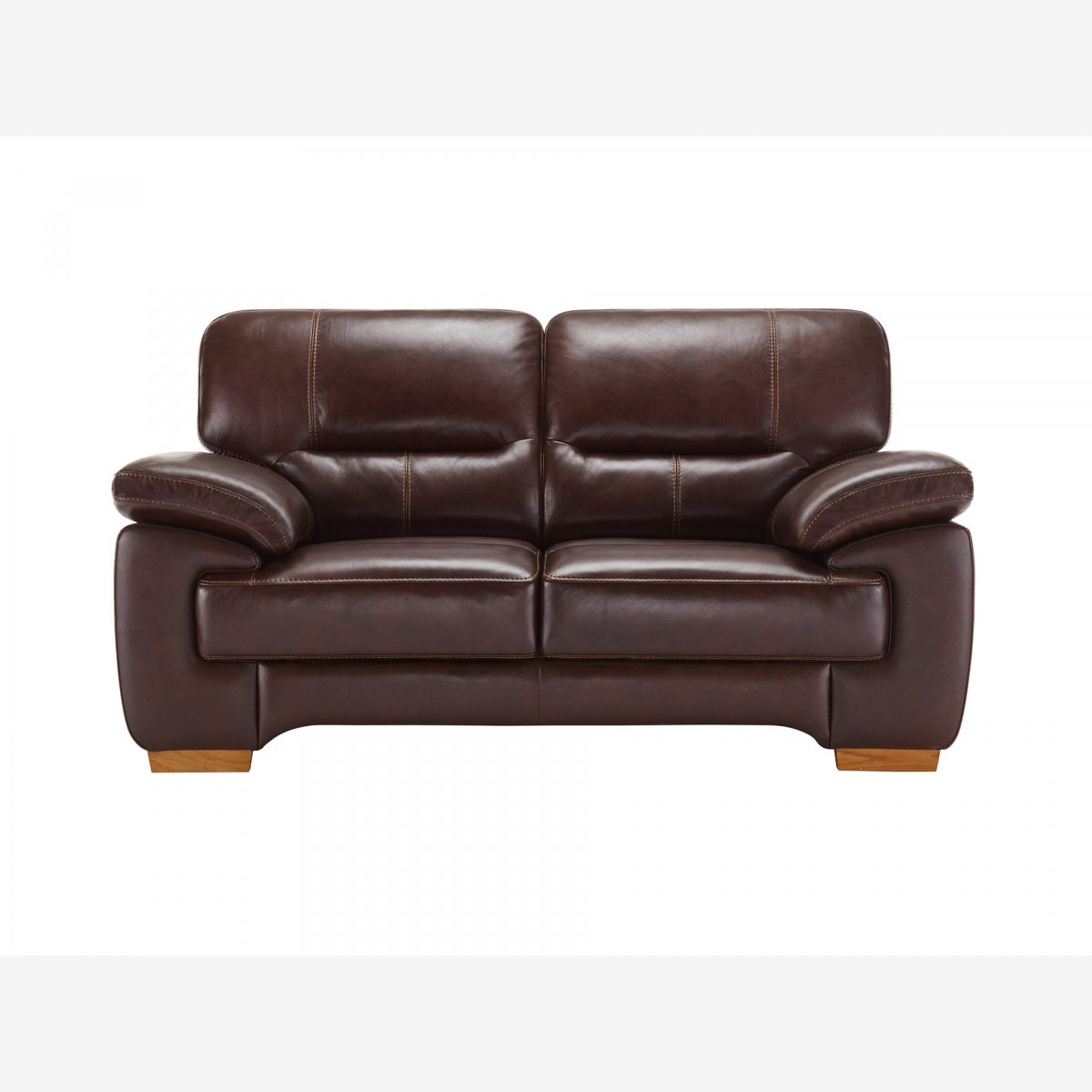 brown leather sofa uk chair company clayton 2 seater in oak furniture land