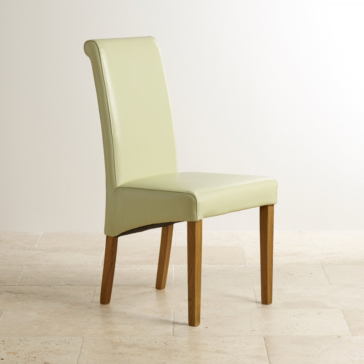 cream upholstered dining chairs uk parsons chair slipcovers chunky set in oak table 43 6 leather