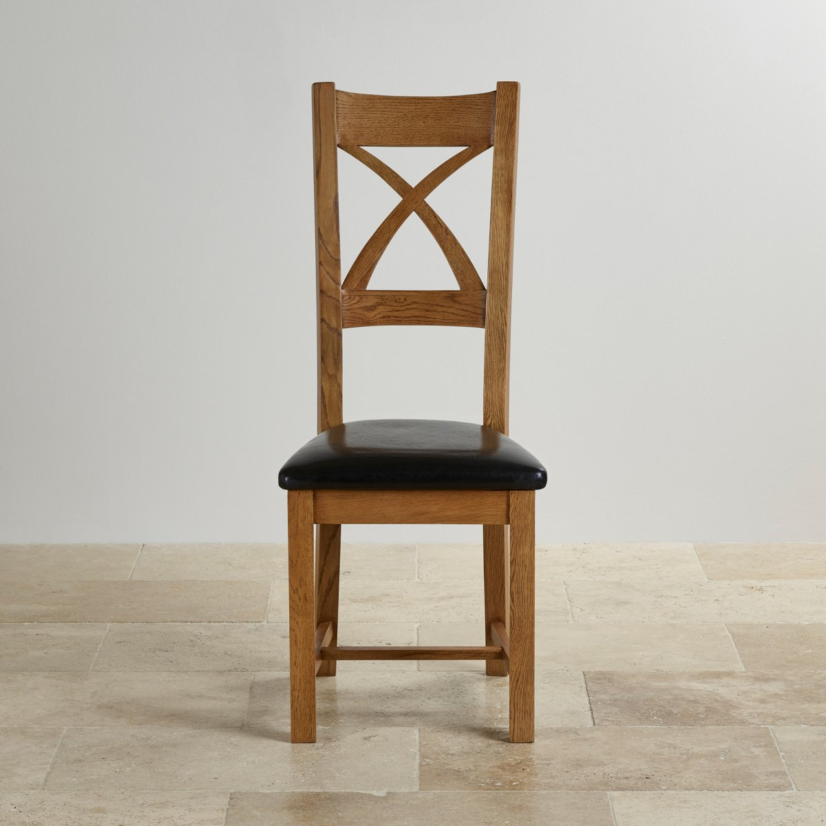 black cross back dining chairs college dorm room chair in rustic oak leather