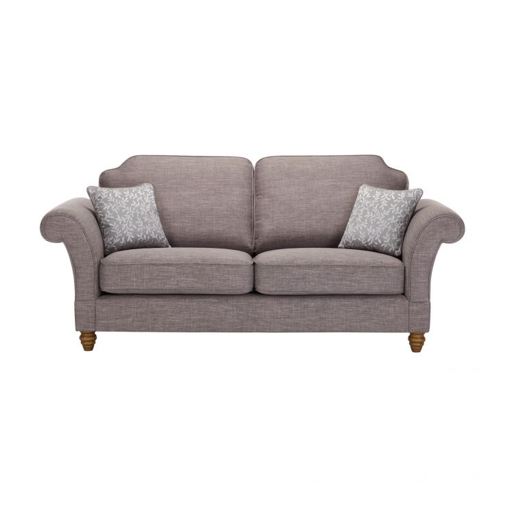 high back sofa and loveseat jacquard fabric sofas dorchester 3 seater in civic smoke with silver scatters image 1