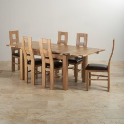 Suede Dining Table Chairs Chair Cover Hire Middlesbrough Dorset Set Extending In Oak 43 6 Leather