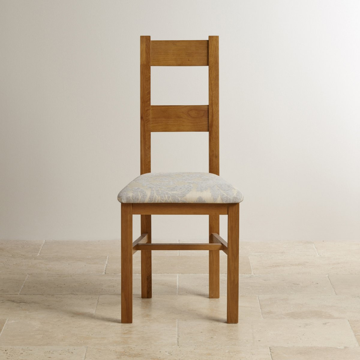 oak farmhouse chairs three legged chair antique rustic solid fabric dining grey