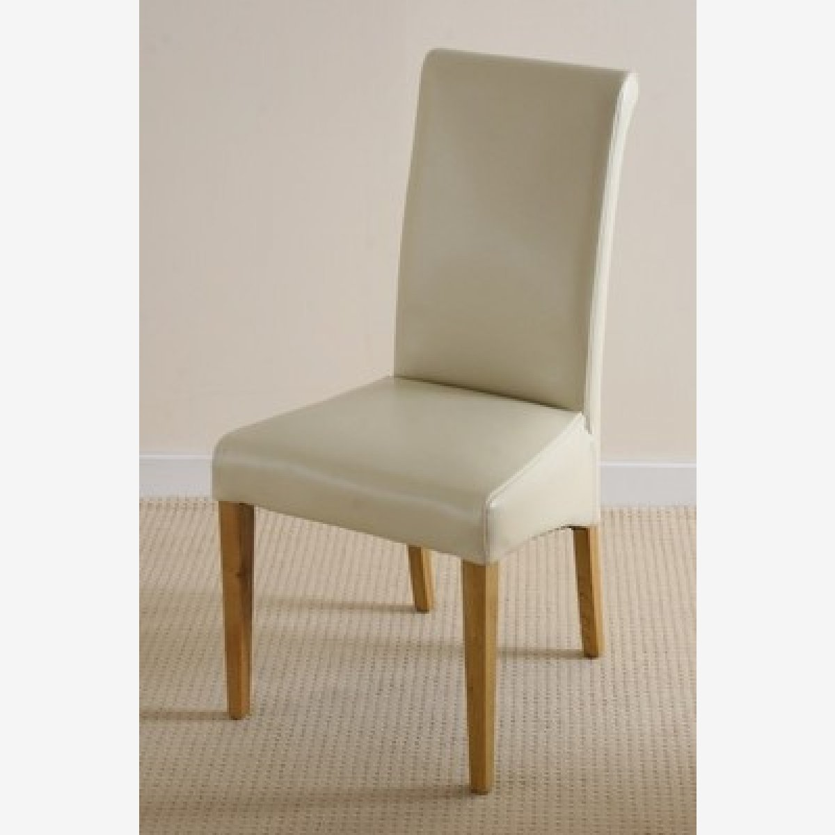 2 x 4 dining chairs office chair that rolls on carpet fresco 4ft solid oak table cream leather scroll