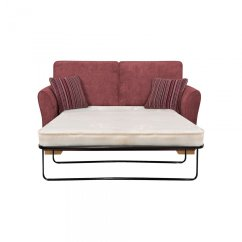 Oak Furniture Sofa Beds Copper Pipe Table Jasmine 2 Seater Bed With Standard Mattress In Plum