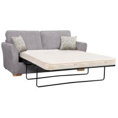 Length Of 2 Seater Sofa Modern White Leather Sectional Jasmine 3 Bed Deluxe Mattress In Cosmo Pewter With Bamboo Slate Scatters