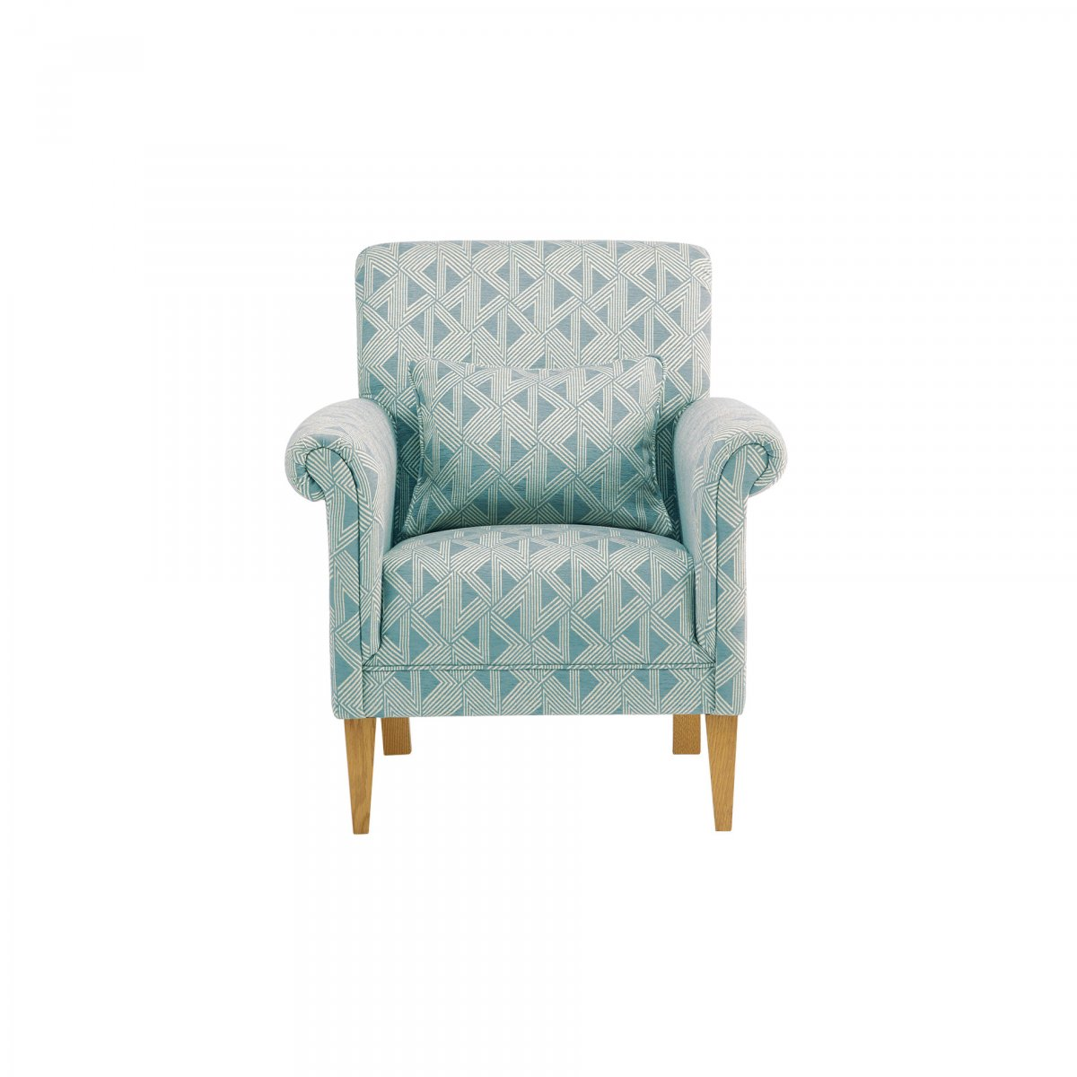 aqua accent chair lazy boy big and tall office staples jasmine in duck egg bamboo fabric