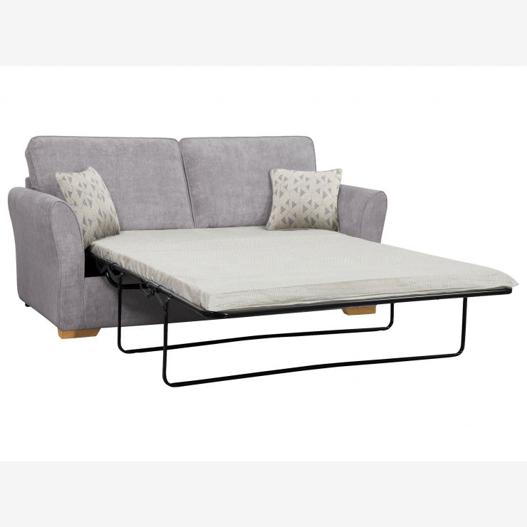 width of a sofa bed sage jasmine 3 seater standard mattress in cosmo pewter with bamboo slate scatters