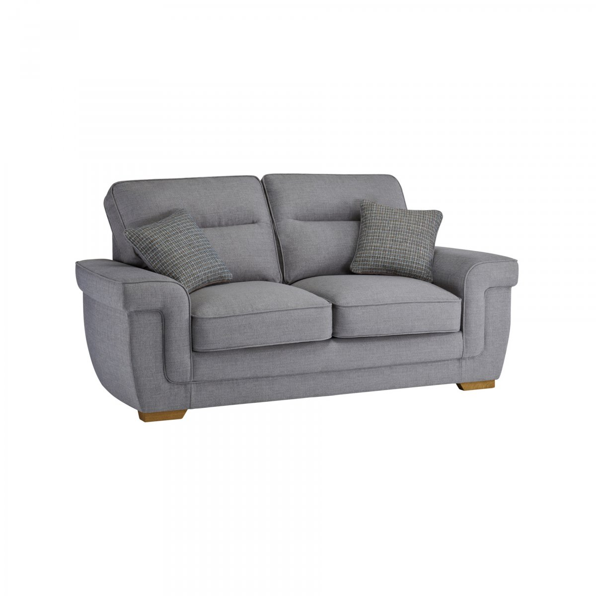 2 seat sofa bed uk lazy boy queen size kirby seater with deluxe mattress barley silver