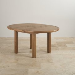 Round Oak Table And 6 Chairs Small Bistro Knightsbridge Extending Dining Set 43 4