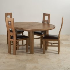 Round Oak Table And 6 Chairs Upholstery Fabrics For Knightsbridge Extending Dining 43 4 Leather