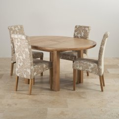 Round Oak Table And 6 Chairs Carex Transport Chair Parts Knightsbridge Dining Set Extending 43 4