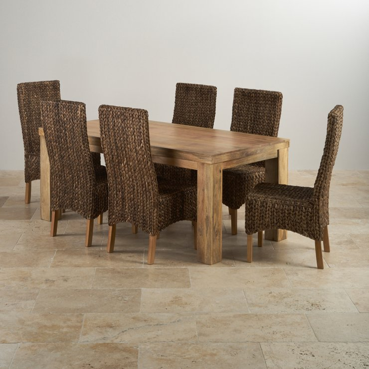 Mantis Light Dining Set In Natural Mango Dining Table 6