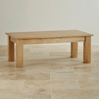 Natural Solid Oak Minimalist Coffee Table by Oak Furniture