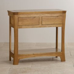 Rustic Cream Sofa Table How To Remove Pen Marks From Red Leather Orrick Console In Solid Oak Furniture Land
