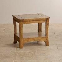 Orrick Lamp Table in Rustic Solid Oak | Oak Furniture Land