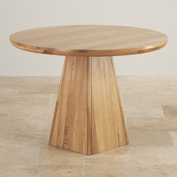 Provence Table With Pyramid Base In Natural Oak