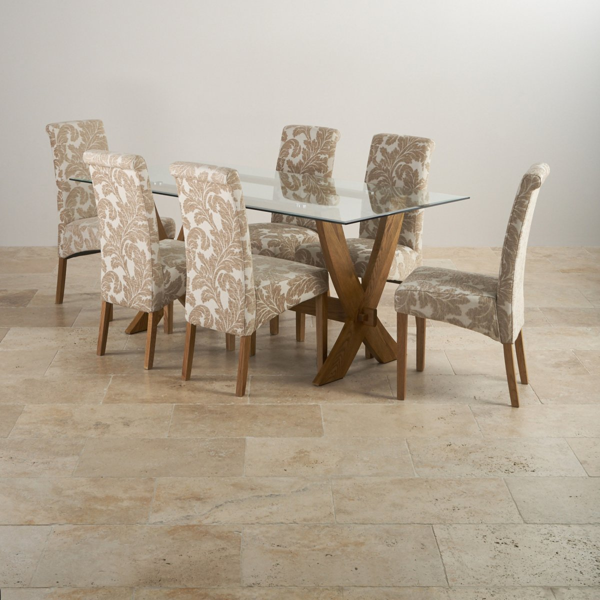 solid oak dining table and chairs elderly sale reflection rustic 43 6 patterned