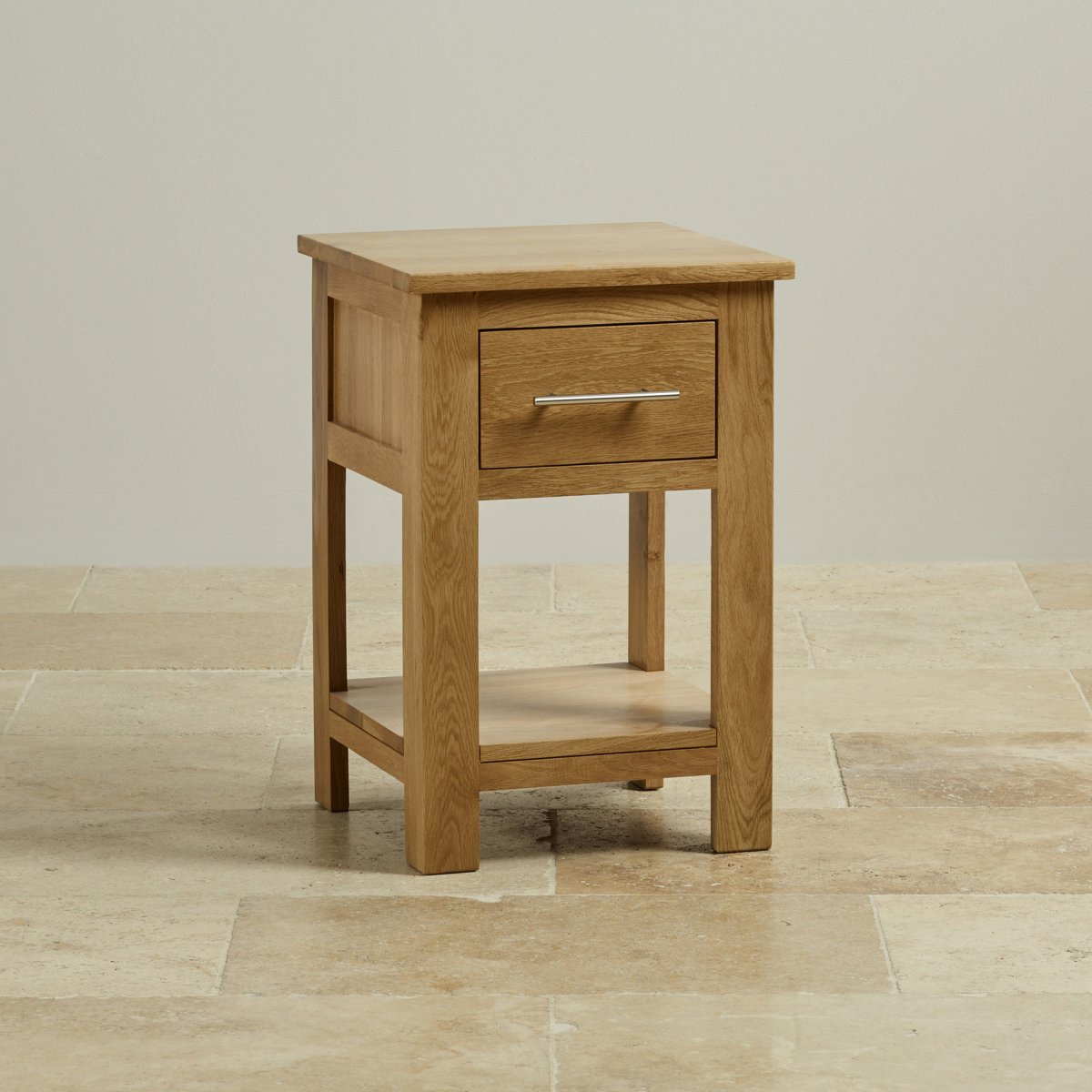 Rivermead 1 Drawer Side Table In Natural Solid Oak
