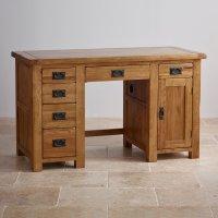 Original Rustic Computer Desk in Solid Oak   Oak Furniture ...