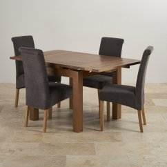 Rustic Dining Chairs Uk Tf Fishing Chair Oak Set 3ft Extending Table 43 4 Scroll Back
